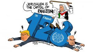 United Nations voted Jerusalem is the Capital of Palestine.