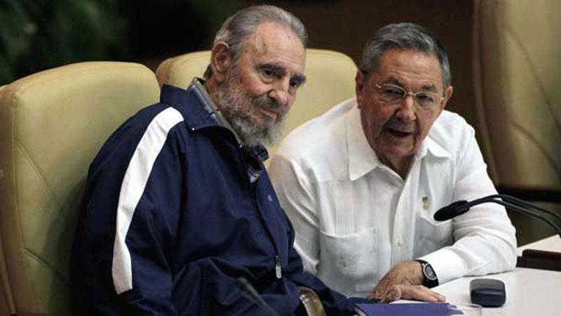 Comrade Fidel Castro and Raul Castro