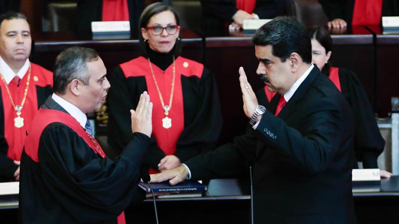 Nicolas Maduro, President of Venezuela, taking oath