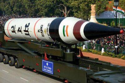 भारतद्वारा परमाणु हतियार बोक्न सक्ने अग्नी–५ क्षेप्यास्त्र परीक्षण