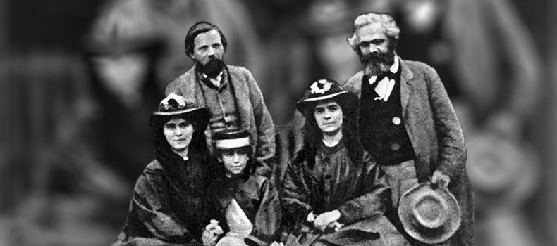 Freidrick Engels, with Karl Marx's family