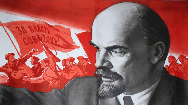 Lenin Leading October Revolution