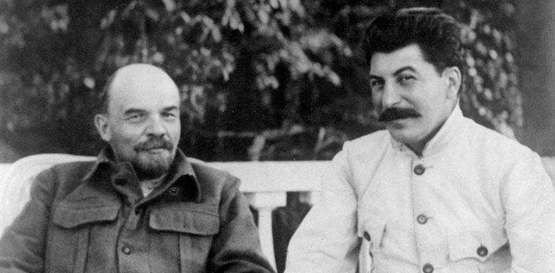 VI Lenin and Joseph Stalin