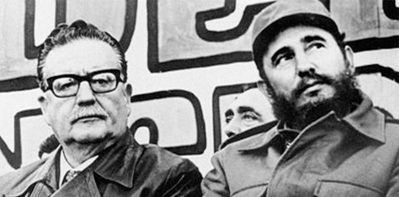 Salvador Allende with Fidel Castro
