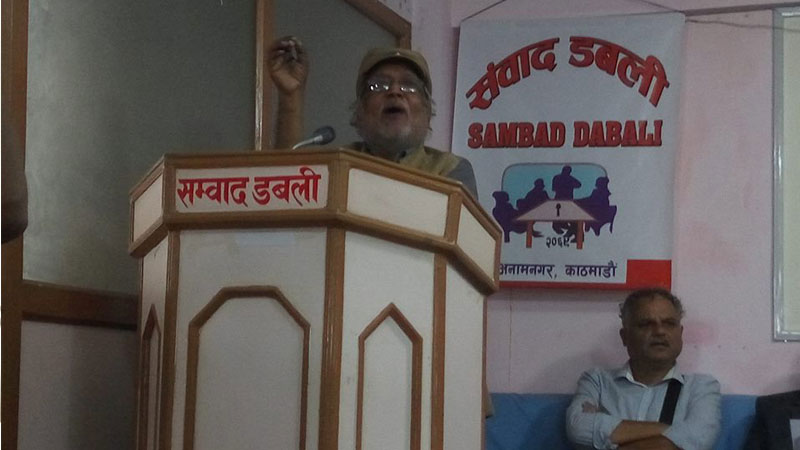 Narendra Jung Peter, Convenor of Anti-Imperialist Forum, Nepal