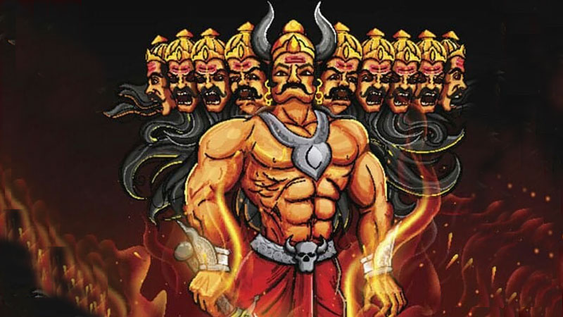 Ten heads of Ravana clarifies that he was equal to other 10 people.