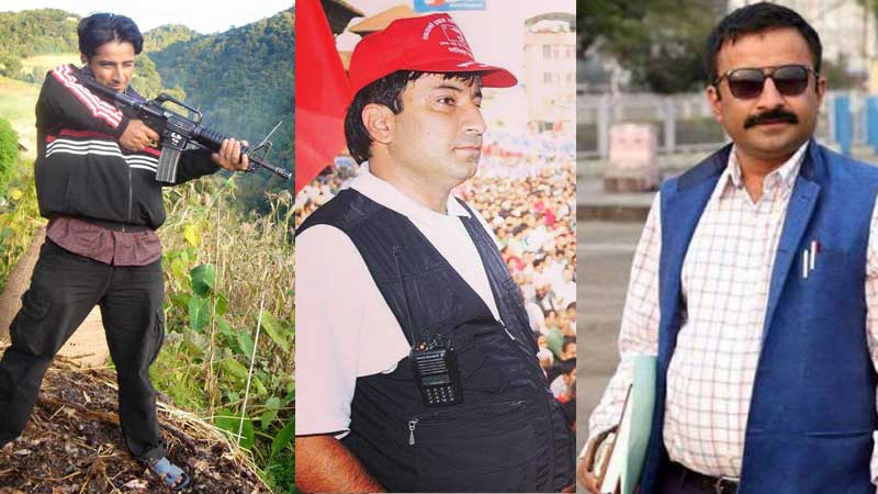 Prakash Dahal in different roles