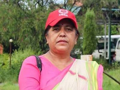 Sabitra Bhusal, woman leader and central committee member of communist party of Nepal
