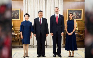चीनका राष्ट्राध्यक्ष सी चिनफिङद्वारा म्याड्रिडमा स्पेनी राजासँग भेटघाट