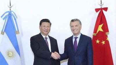 चिनियाँ राष्ट्राध्यक्ष तथा अर्जेन्टिनाका राष्ट्रपति बीच भेटवार्ता