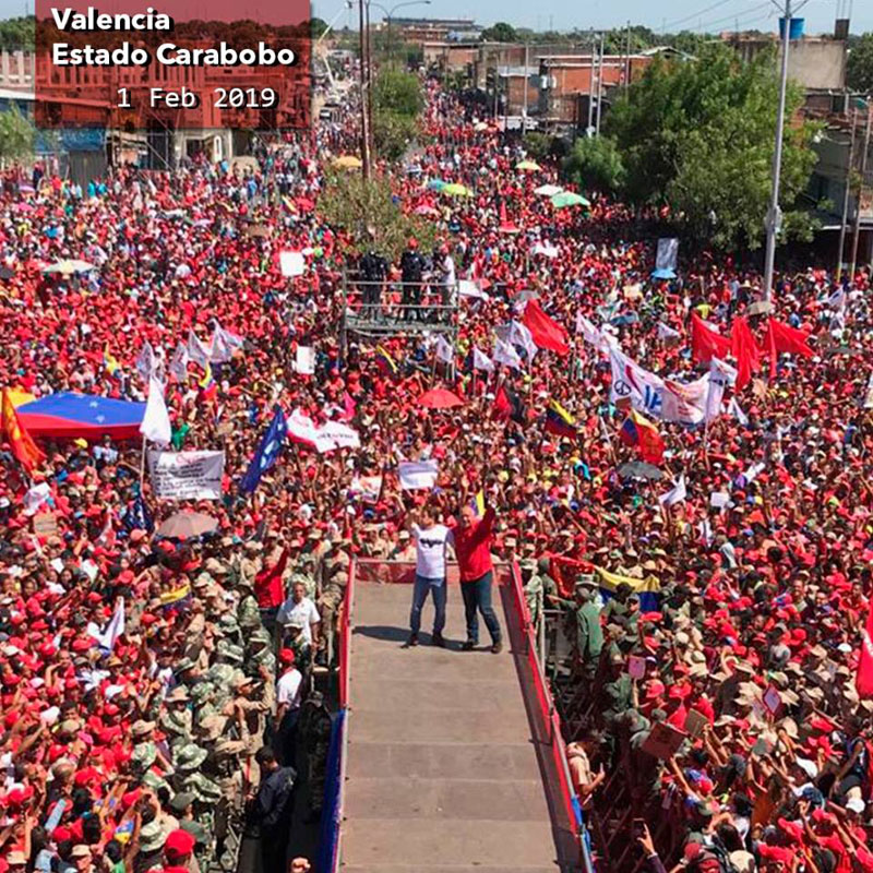 Corabobo- Venezuela, demonstration in favour of President Nicolas Maduro.
