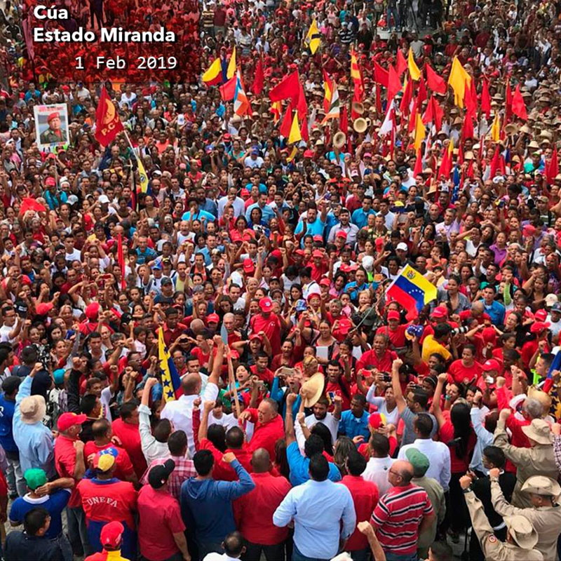 Venezuelan People in favour of President Nicolas Maduro