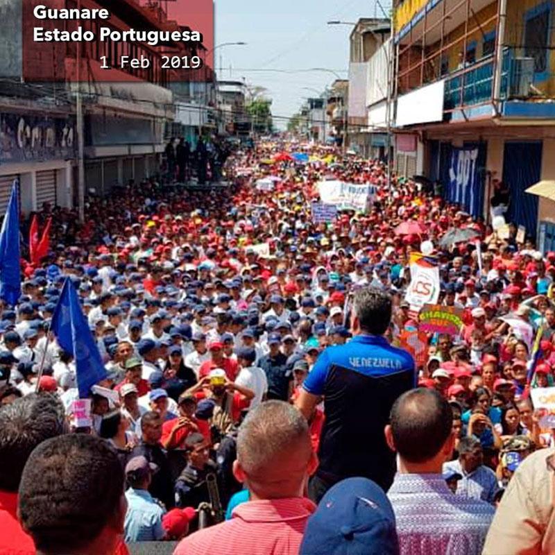 Portuguesa, Venezuela, demonstration in favour of President Nicolas Maduro Moros