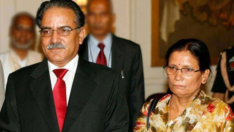 Chairman Prachanda and his wife Sita Dahal