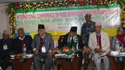 खाद्यसम्प्रभुता तथा किसान अधिकार सम्बन्धी काठमाडौं घोषणा पत्र