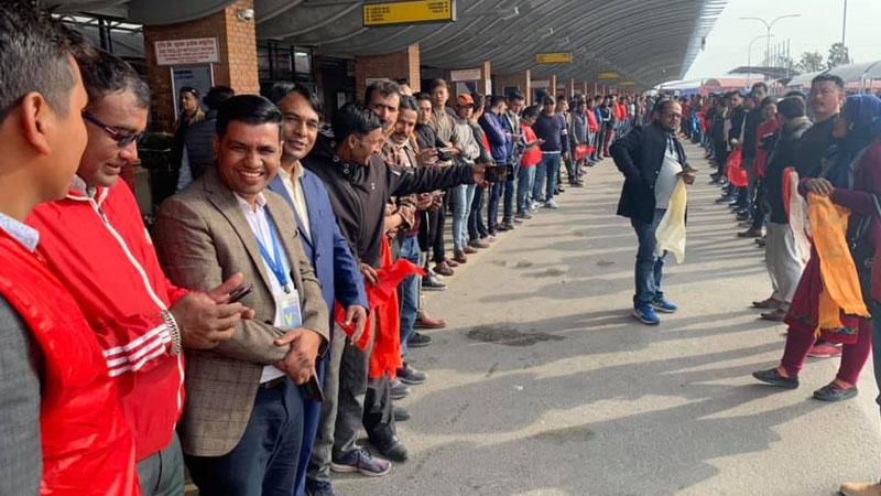 Ram Prasad Sapkota Deepshikha and YCL to see off chairman Prachanda
