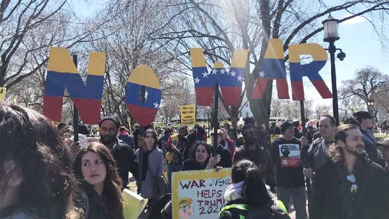 Venezuela Solidarity Demonstration infront of White House