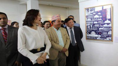 काठमाडौँमा चिनिया प्रान्त हुनानका सांस्कृतिक पोष्टर प्रदर्शनी