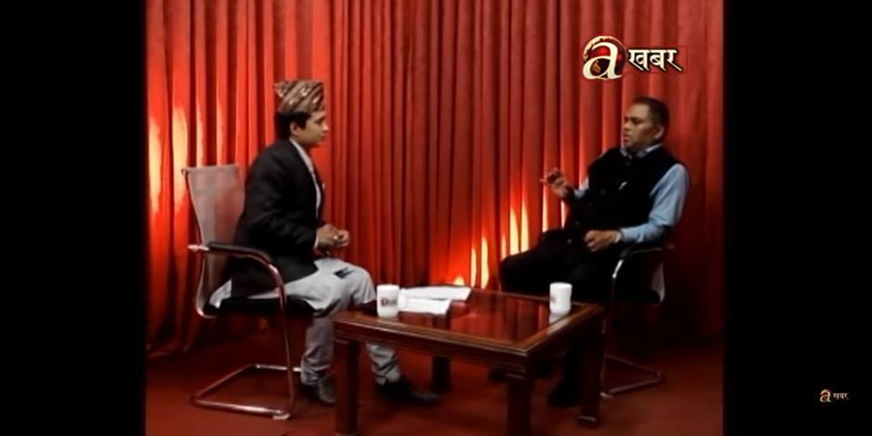 sushil pande and helth minister Upendra pande conversation in avnews tv