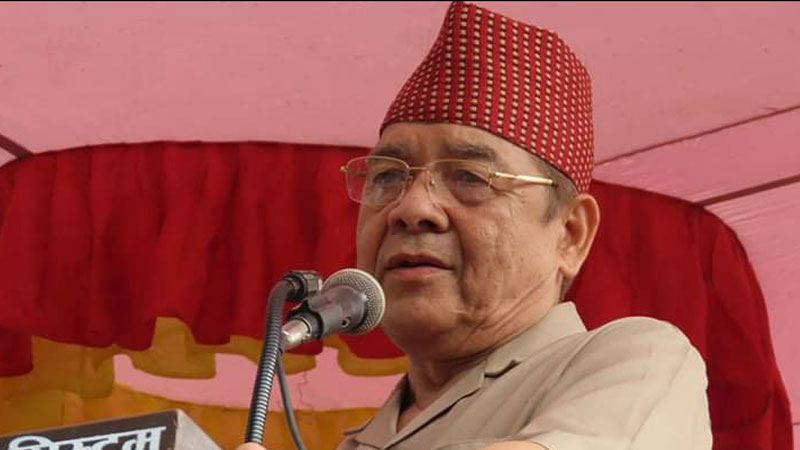 bamdev-gautam, vice-chairman of nepal communist party and chairman, all nepal peasants' federation (ANPFa)