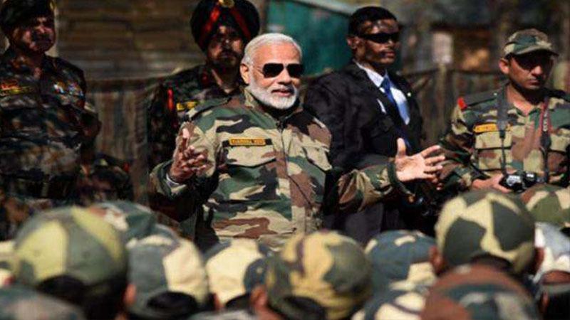 Narendra Damodar Modi Prime Minister of India in military Dress