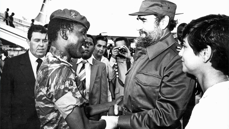 Thomas Sankara with Fidel Castro