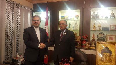 इरानी राजदूतद्वारा अध्यक्ष प्रचण्डसँग शिष्टाचार भेट