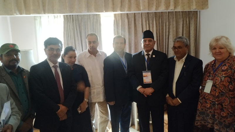 Asia Pacific Solidarity with Cuba Prachanda, Aleida Guevara, Fernando Gonzalez, Ganga Dahal and Nahendra Khadka, Ambassador