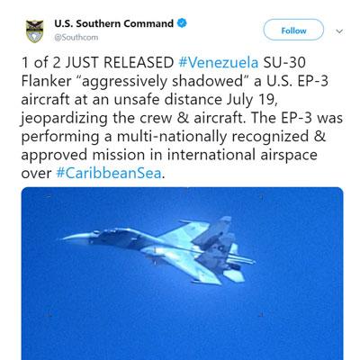 Venezuelan SU-30 EP-3 Fighter