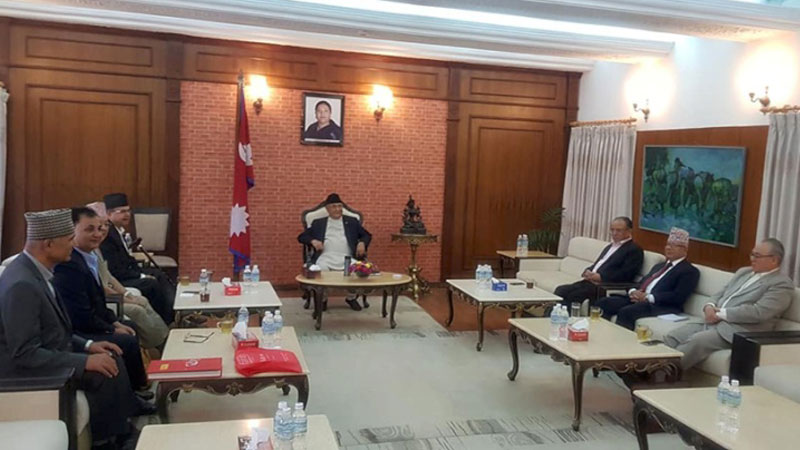 nekapa NCP secretaraiat meeting PM KP Oli, CM Prachanda, BAmdev, Jhalanath, Badal, Ishwar, Bishnu