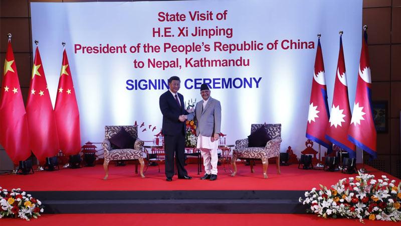 Xi Jinping, PM KP sharma Oli
