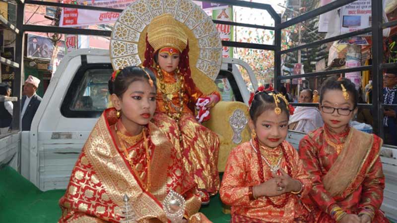 newar girls, Baglung mahotsab, Baglung festival