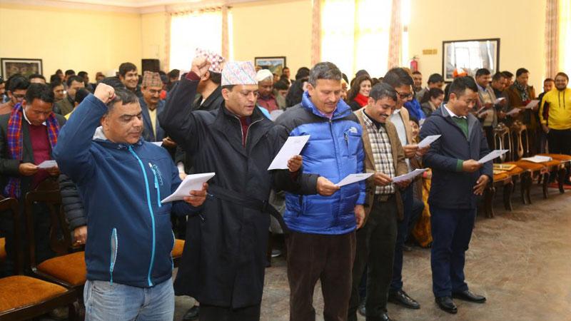 Press organisation nepal, oath, baluwatar