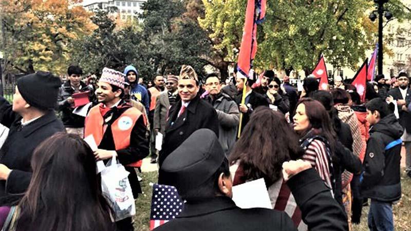 nepali protest, against India, US, white house
